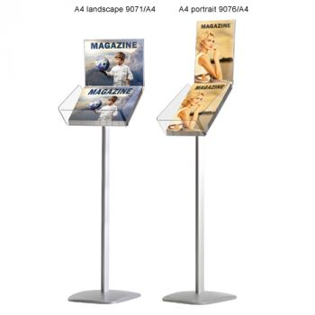 A4 brochurehouder met topkaart